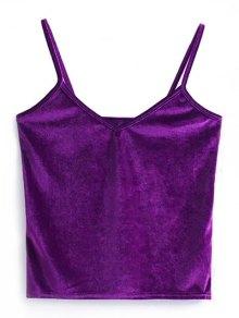 Camisole Velvet Top - Purple
