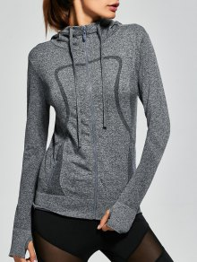 Hooded Zip Running Jacket