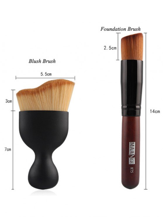 22 Pcs Face Eye Makeup Brushes and Makeup Sponges - BLACK  Mobile