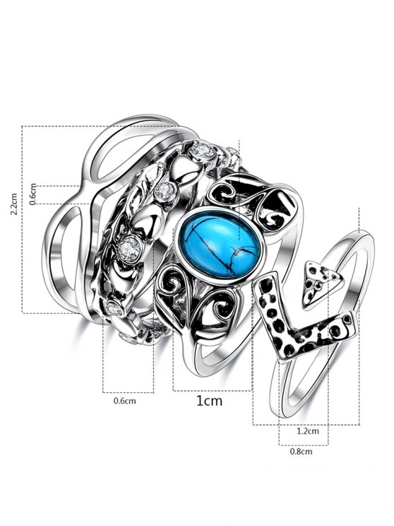 Infinite Rhinestone Ring Set -   Mobile