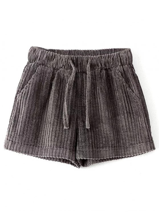 Winter Corduroy Shorts - GRAY S Mobile