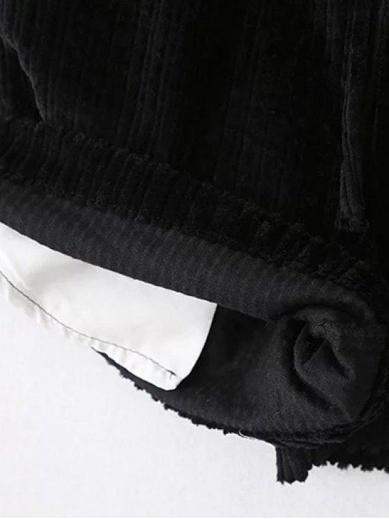 Winter Corduroy Shorts - GRAY L Mobile