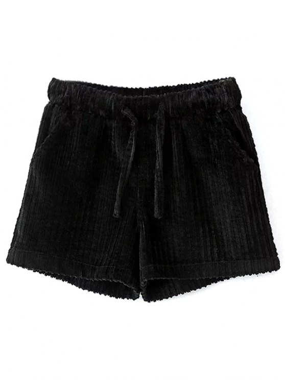 Winter Corduroy Shorts - BLACK L Mobile