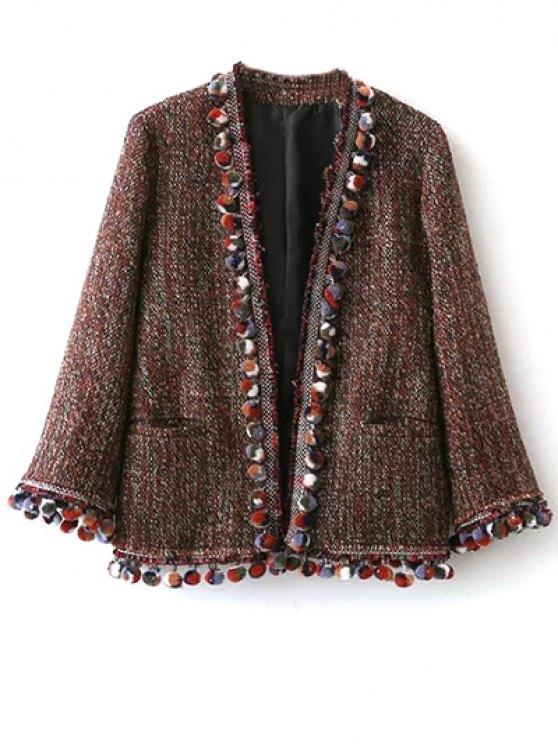 Pompom Tweed Jacket - MULTICOLOR M Mobile