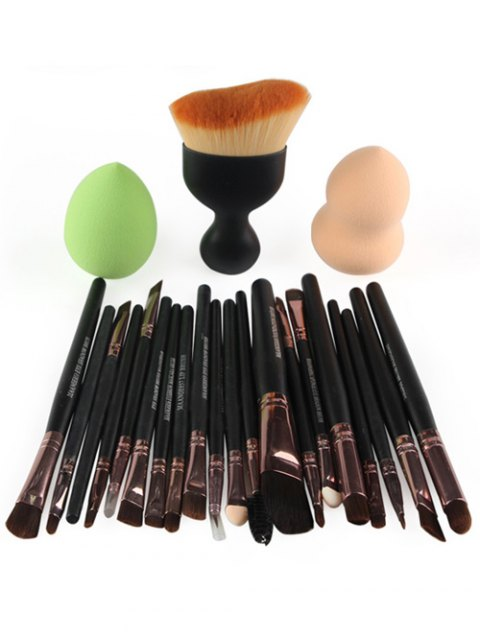 womens 22 Pcs Face Eye Makeup Brushes and Makeup Sponges - ROSE GOLD  Mobile