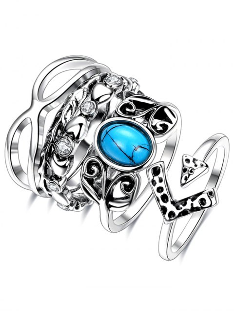 latest Infinite Rhinestone Ring Set -   Mobile