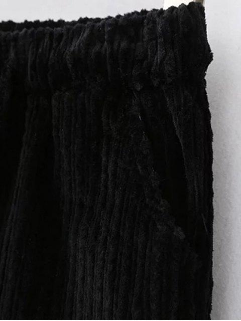 ladies Winter Corduroy Shorts - GRAY M Mobile
