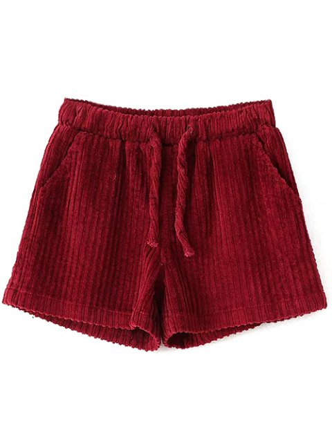 outfit Winter Corduroy Shorts - WINE RED M Mobile