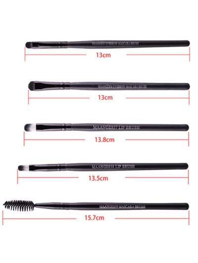22 Pcs Face Eye Makeup Brushes and Beauty Blenders - BLACK  Mobile