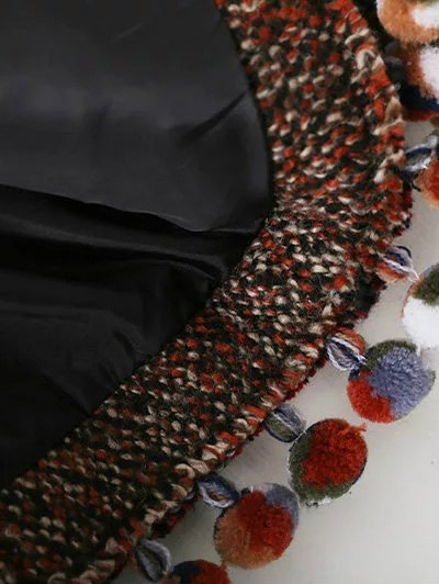 Pompom Tweed Jacket - MULTICOLOR L Mobile