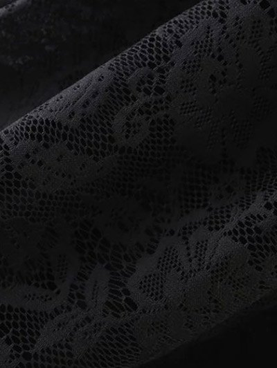 A Line Lace Skirt - BLACK S Mobile