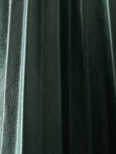 Pleated PU Leather Long Skirt - ARMY GREEN L Mobile