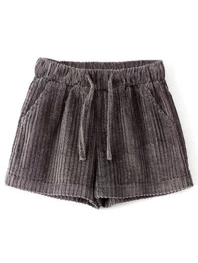 Winter Corduroy Shorts - GRAY M Mobile