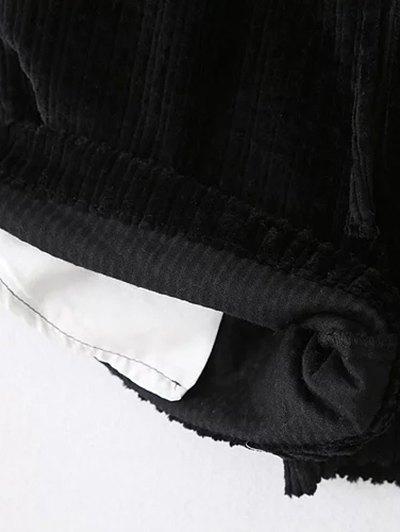 Winter Corduroy Shorts - GRAY S Mobile