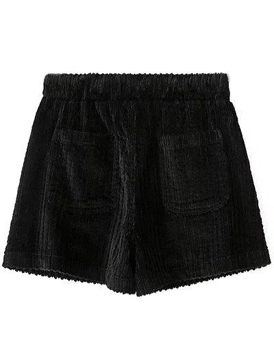 Winter Corduroy Shorts - BLACK L Mobile