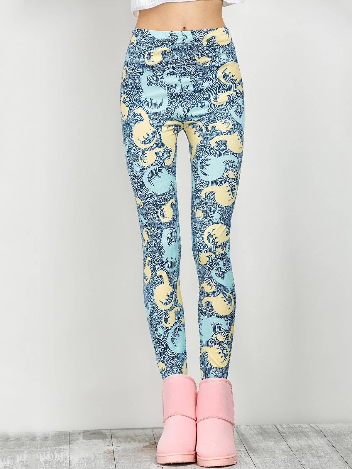 Elastic Print Leggings