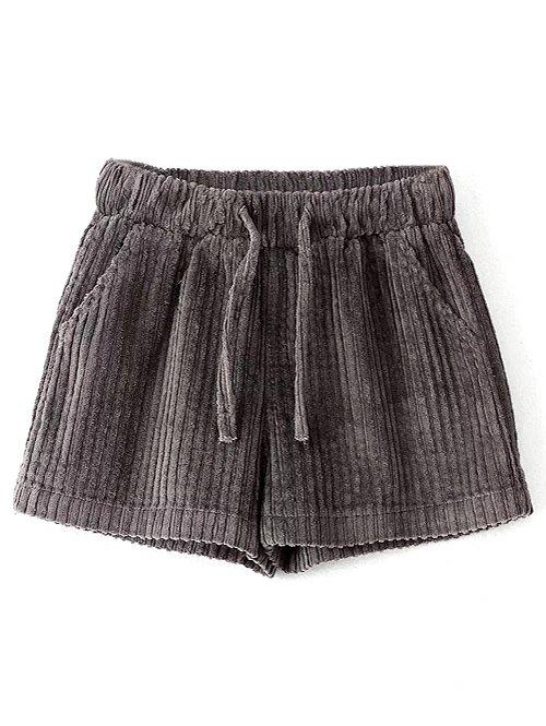 Elastic Corduroy Shorts
