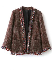 Pompom Tweed Jacket - Multicolor M