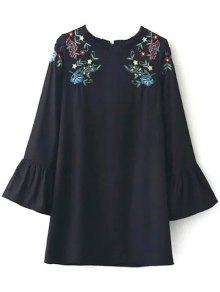 Frilled Embroidered Dress