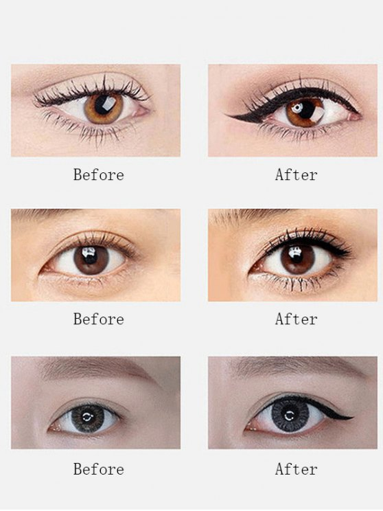 12 Pcs Waterproof Liquid Eyeliner Pencils - BLACK  Mobile