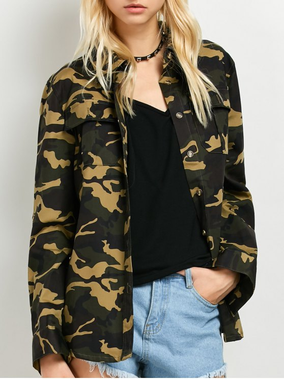 best Pocket Camo Jacket - ARMY GREEN 2XL