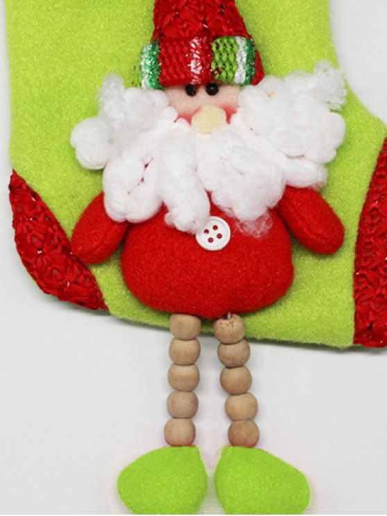 Christmas Santa Claus Hanging Candy Present Sock -   Mobile