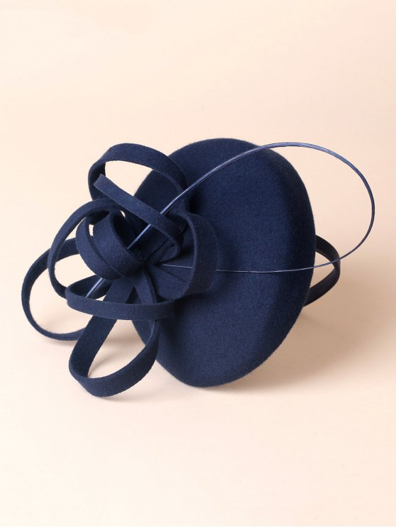 Wool Spiral Band Cocktail Hat -   Mobile