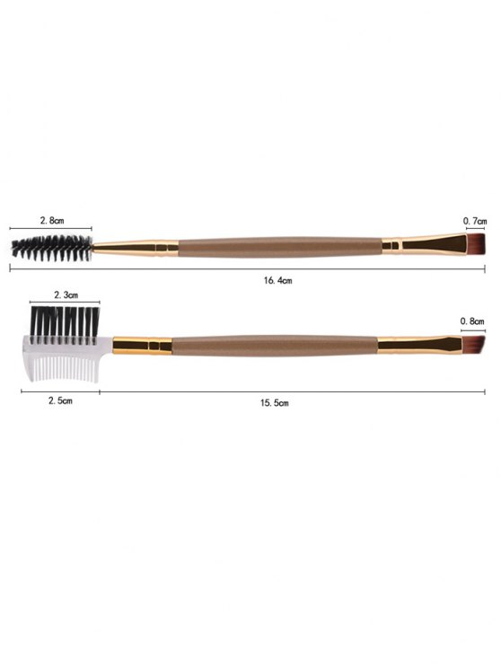 9 Pcs Makeup Brushes Set - CHAMPAGNE GOLD  Mobile