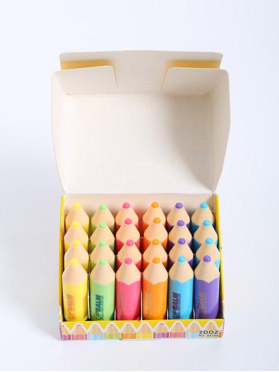 fancy 24 Pcs Crayon Lip Balms - COLORMIX