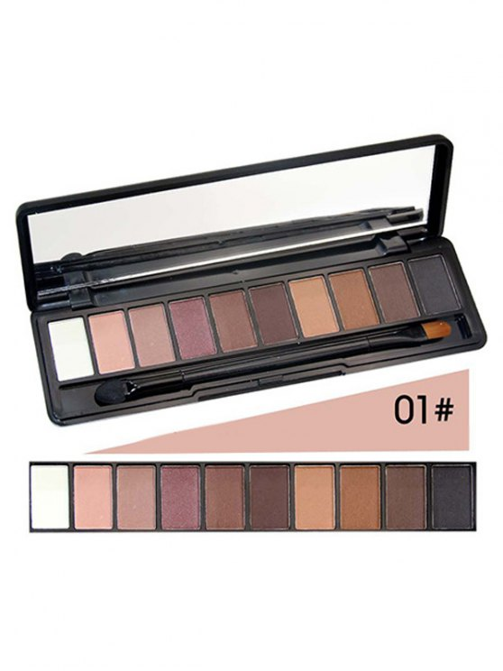 Shimmer Matte Powder Eyeshadow Kit - #01  Mobile