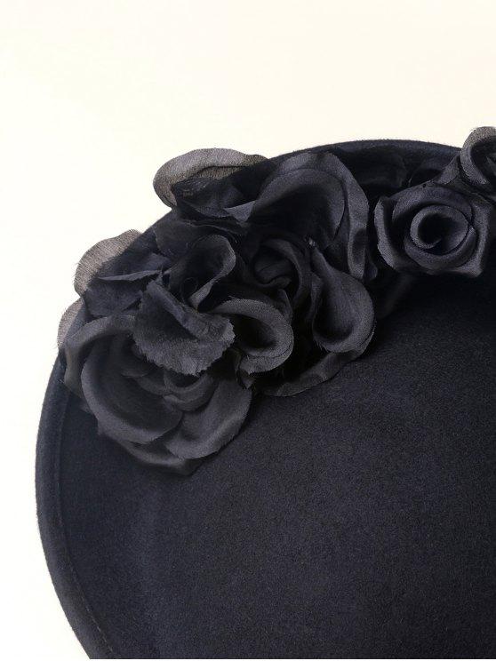 Rose Yarn Felt Cocktail Hat -   Mobile