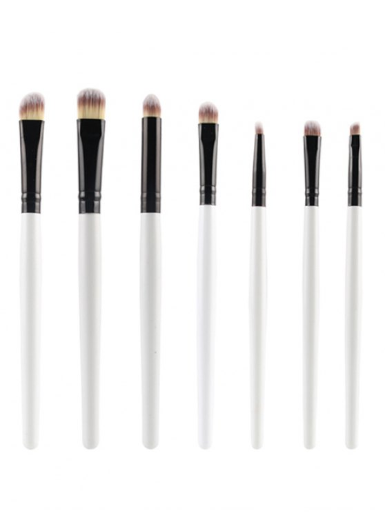 outfit 7 Pcs Eye Makeup Brushes Set - WHITE
