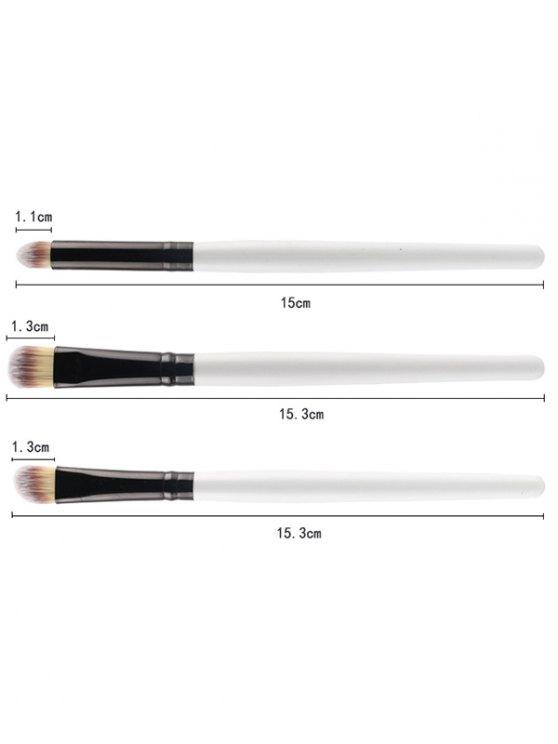 7 Pcs Eye Makeup Brushes Set - WHITE  Mobile