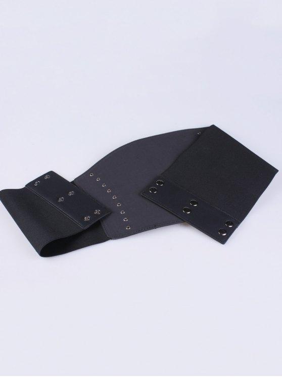Criss Cross Elastic Corset Belt - BLACK  Mobile