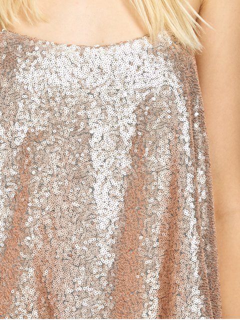 womens Loose Sequined Tank Top - GOLDEN S Mobile