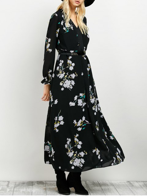 shops Long Sleeve Maxi Floral Dress -   Mobile