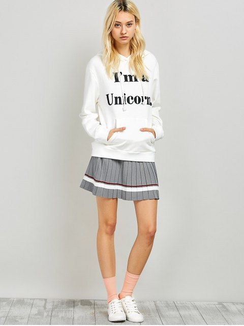 sale I am a Unicorn Graphic Hoodie - WHITE M Mobile