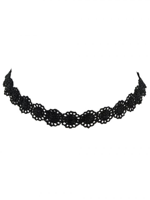 chic Lace Hollow Out Floral Necklace -   Mobile