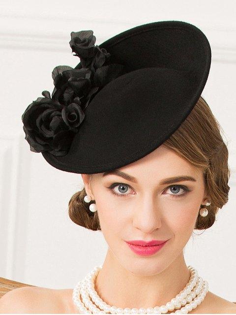 women's Rose Yarn Felt Cocktail Hat -   Mobile