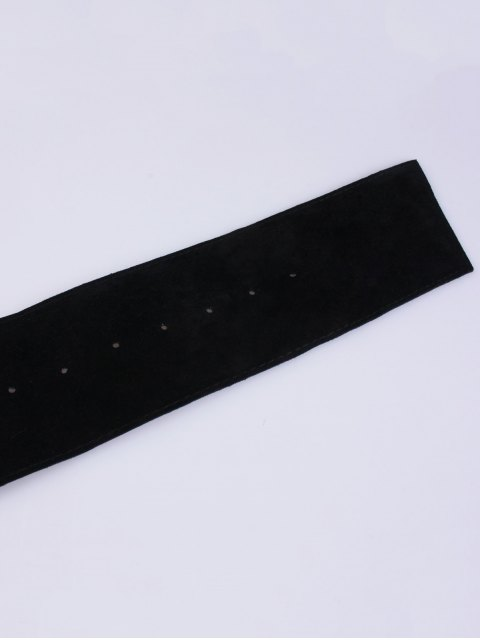 affordable Round Buckle Wide Velvet Belt -   Mobile