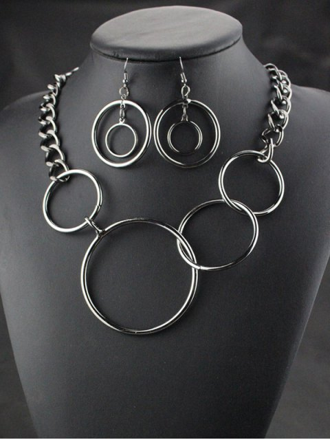 online Circles Necklace with Earrings -   Mobile