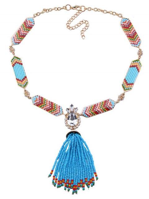 chic Rhinestone Beads Bohemian Necklace -   Mobile