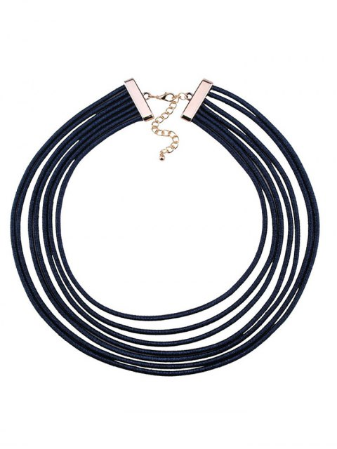 chic Artificial Leather Rope Layered Choker Necklace -   Mobile