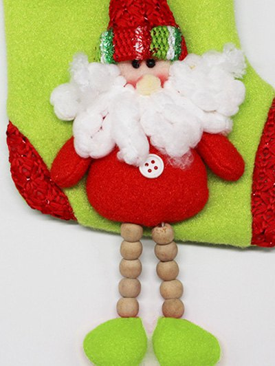Christmas Santa Claus Hanging Candy Present Sock - RED  Mobile