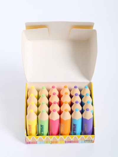 24 Pcs Crayon Lip Balms - COLORMIX  Mobile