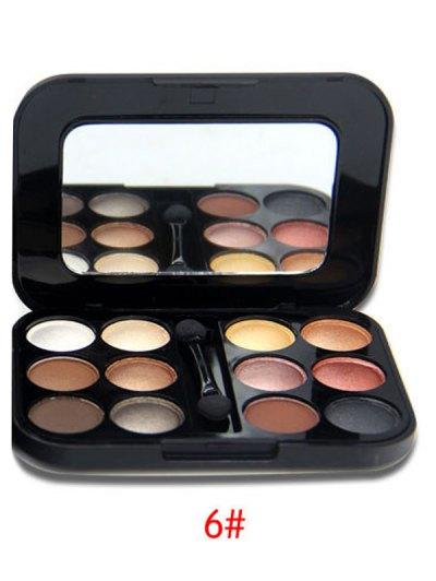 Shimmer Matte Eyeshadow Kit - #06  Mobile