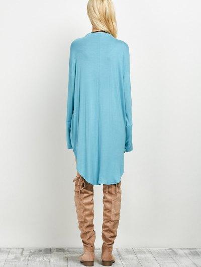 Loose High-Low Dress - LAKE BLUE L Mobile
