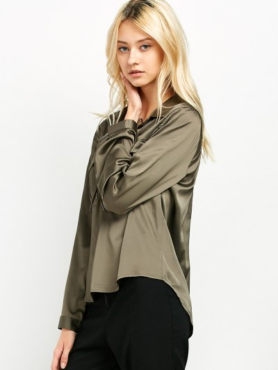 OL Lace-Up Shirt - GREEN S Mobile
