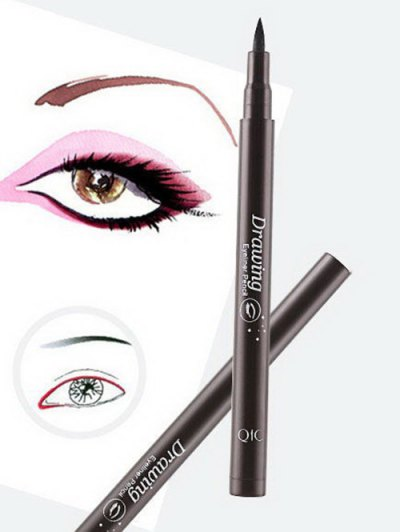 12 Pcs Smoothly Liquid Eyeliner Pencils - BLACK  Mobile