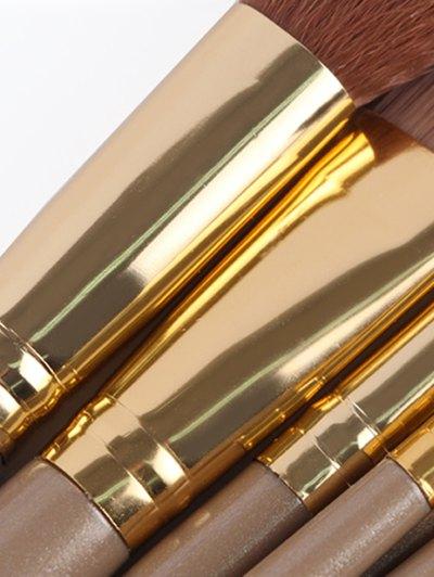 9 Pcs Makeup Brushes Set - CHAMPAGNE GOLD  Mobile